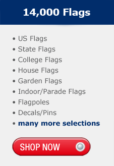 10,000 Flags, US Flags, State Flags, College Flags, House Flags, Garden Flags, Indoor,Parade Flags, Flagpoles, Decals,Pins