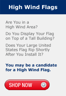 High Wind Flags, High Wind Area, Display your Flag on Top of a Tall Building, Your Flag Rips in High Winds